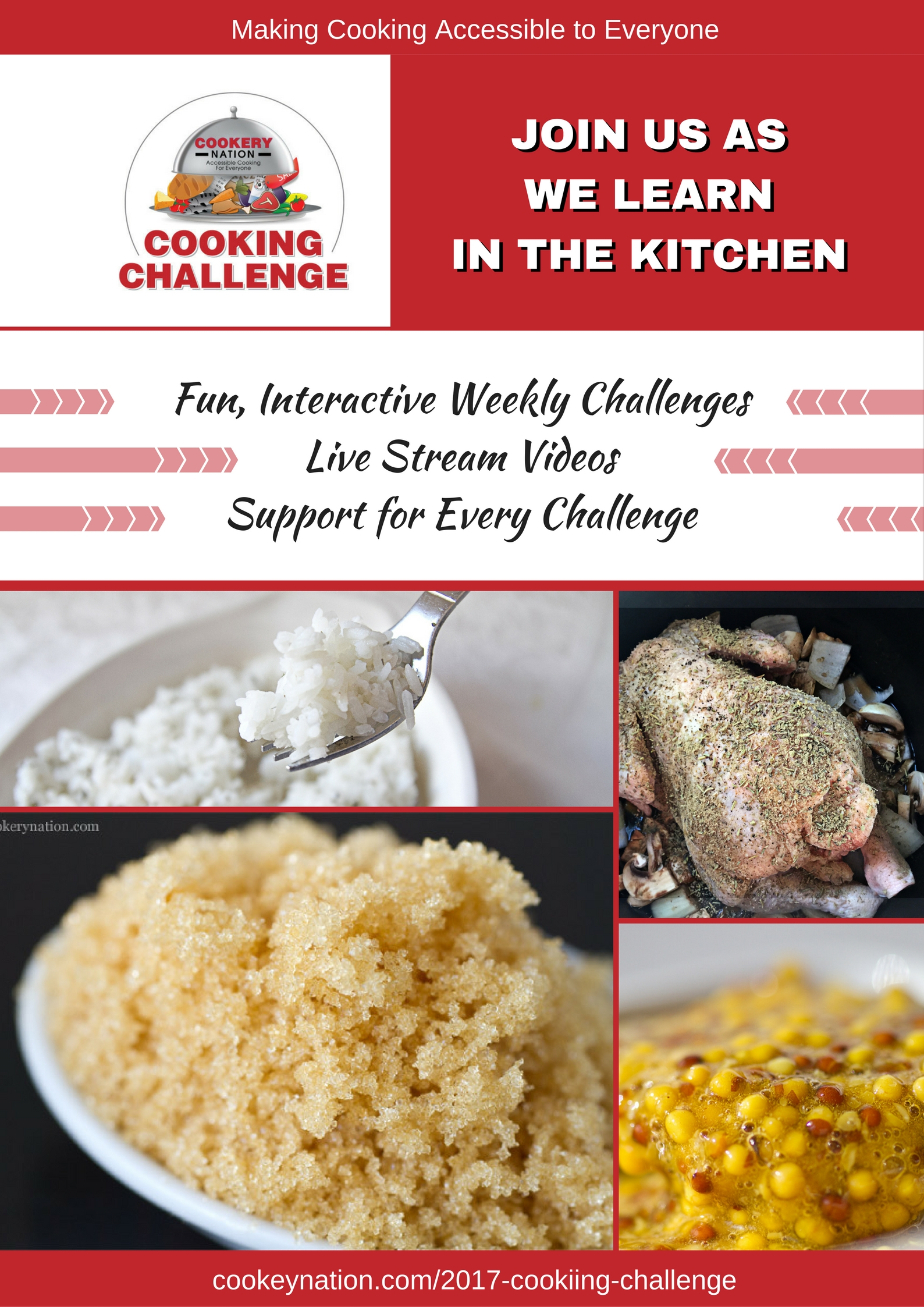 Our 2017 Challenge has begun! Join in whenever you like. We can all improve our skills in the kitchen. Let's make it fun!