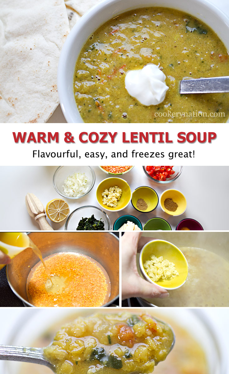 Warm & Cozy Lentil Soup is full of flavour and easy to make.