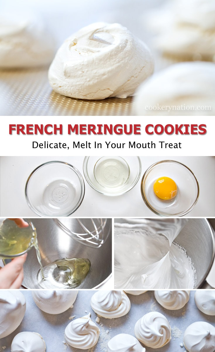 Creating French Meringue Cookies is easy and melt in your mouth tasty.