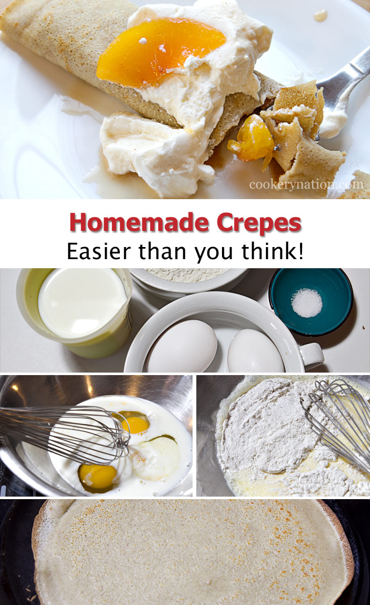 Crepes are easier to make than you think. This recipe shows you how.