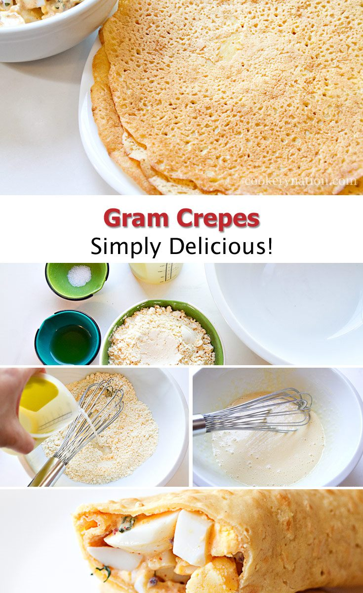 Gram Crepes are a fantastic option for gluten free wraps. Learn how to make and use them.